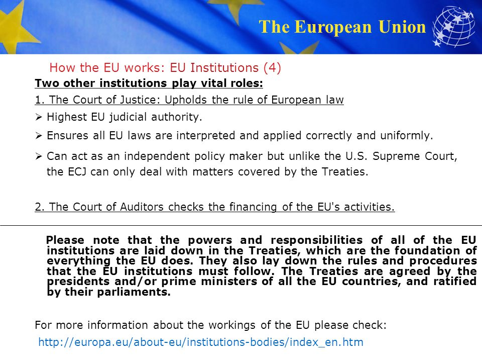 How the EU works: EU Institutions (4)