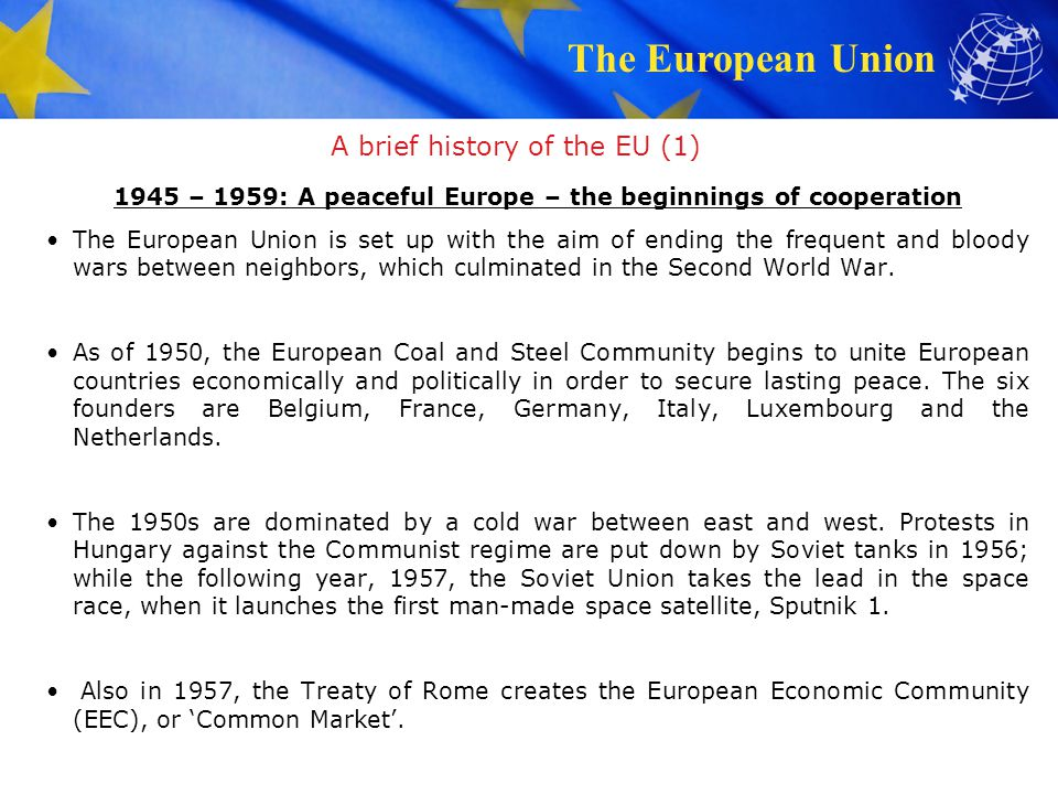 A brief history of the EU (1)