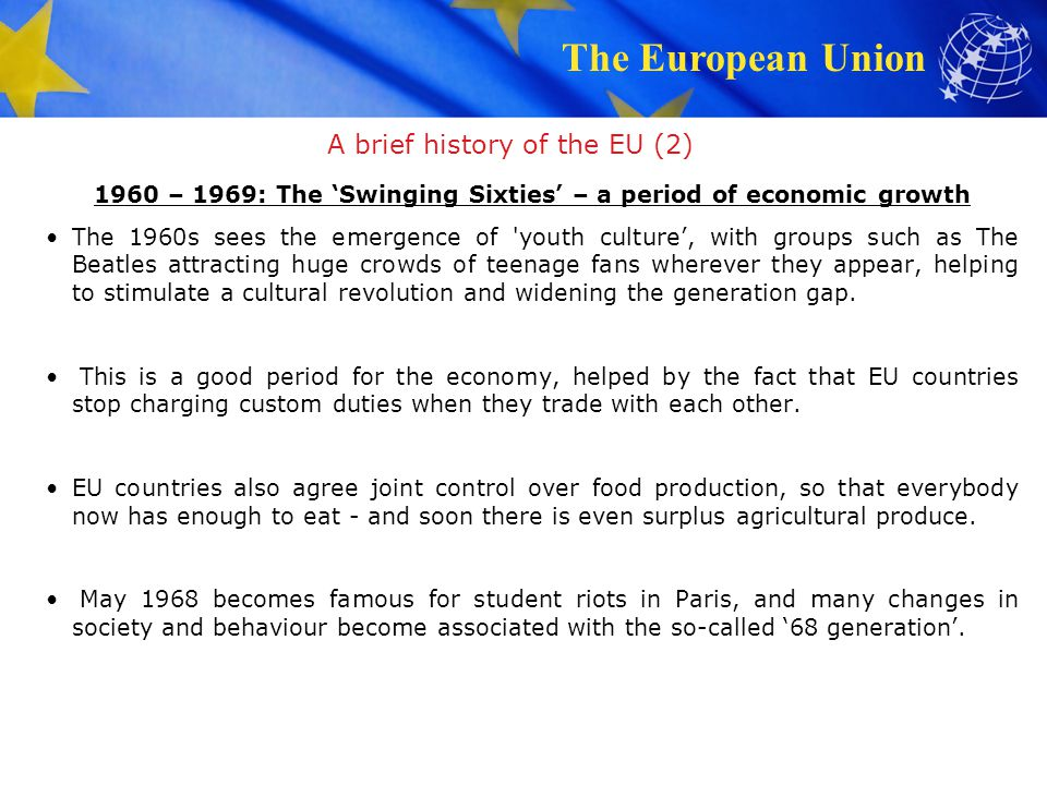 A brief history of the EU (2)