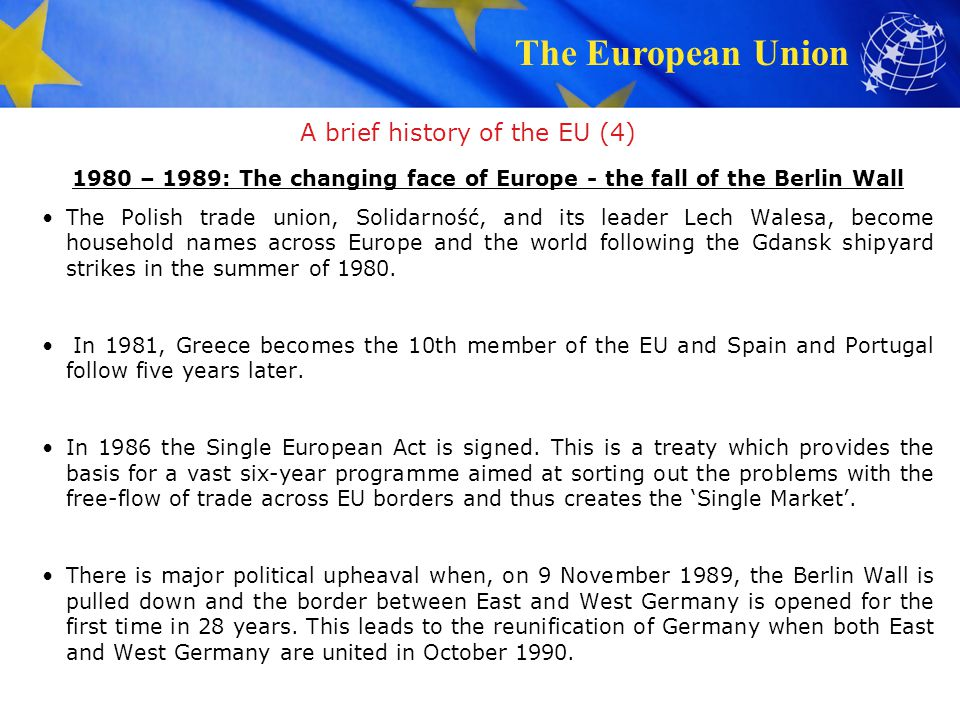 A brief history of the EU (4)