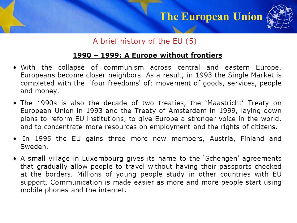 A brief history of the EU (5)