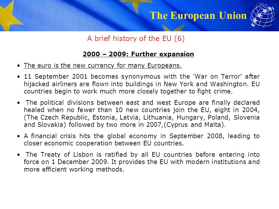 A brief history of the EU (6)