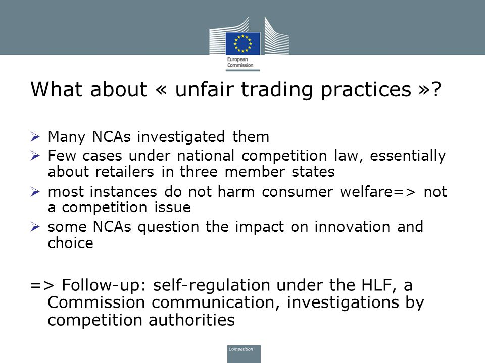 What about « unfair trading practices »