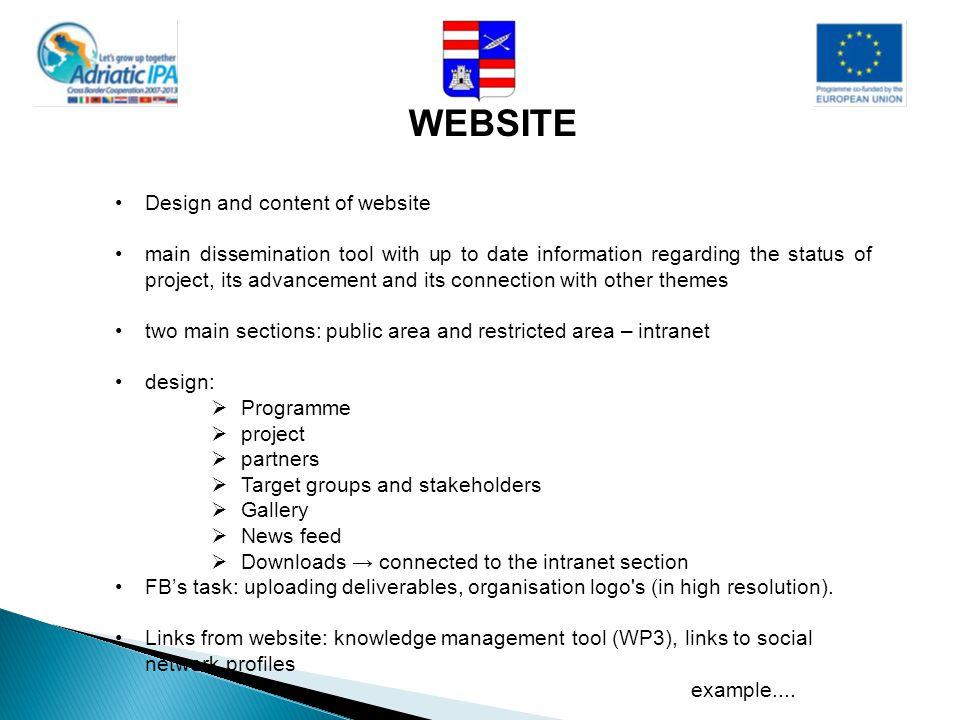 WEBSITE Design and content of website