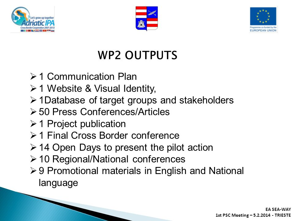 WP2 OUTPUTS 1 Communication Plan 1 Website & Visual Identity,