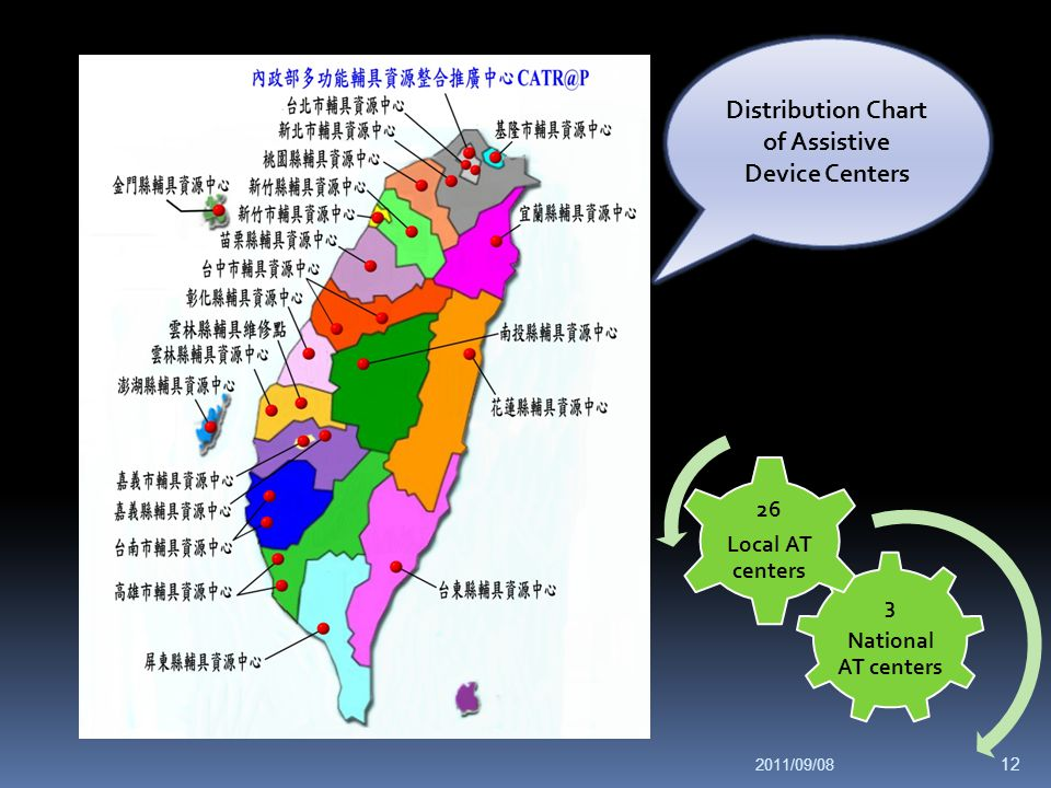 Distribution Chart of Assistive Device Centers