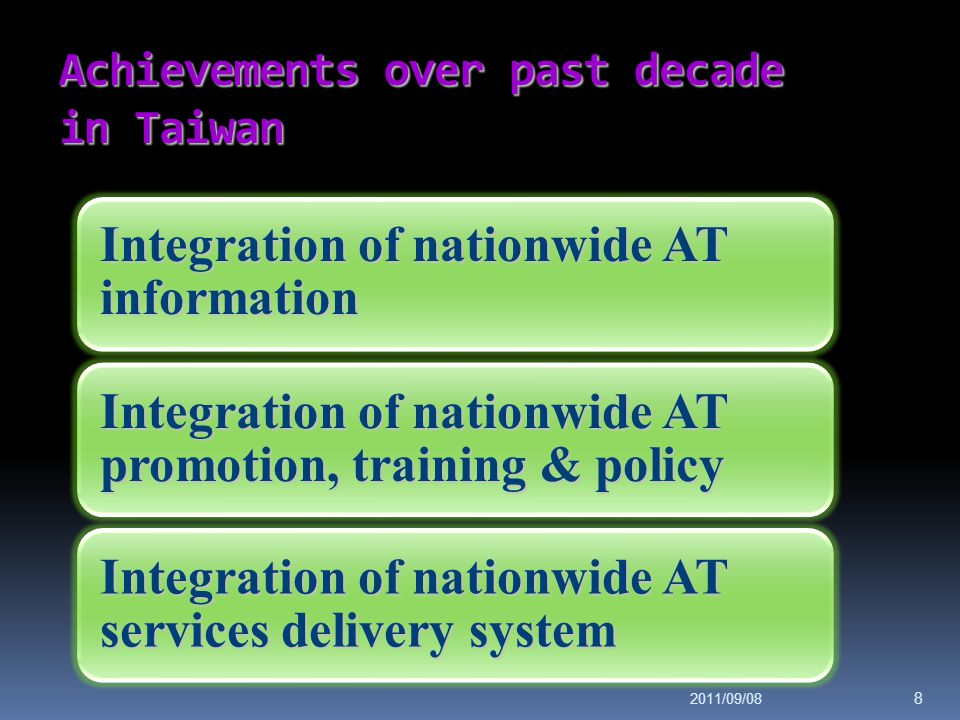 Achievements over past decade in Taiwan