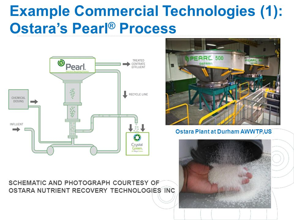Example Commercial Technologies (1): Ostara's Pearl® Process