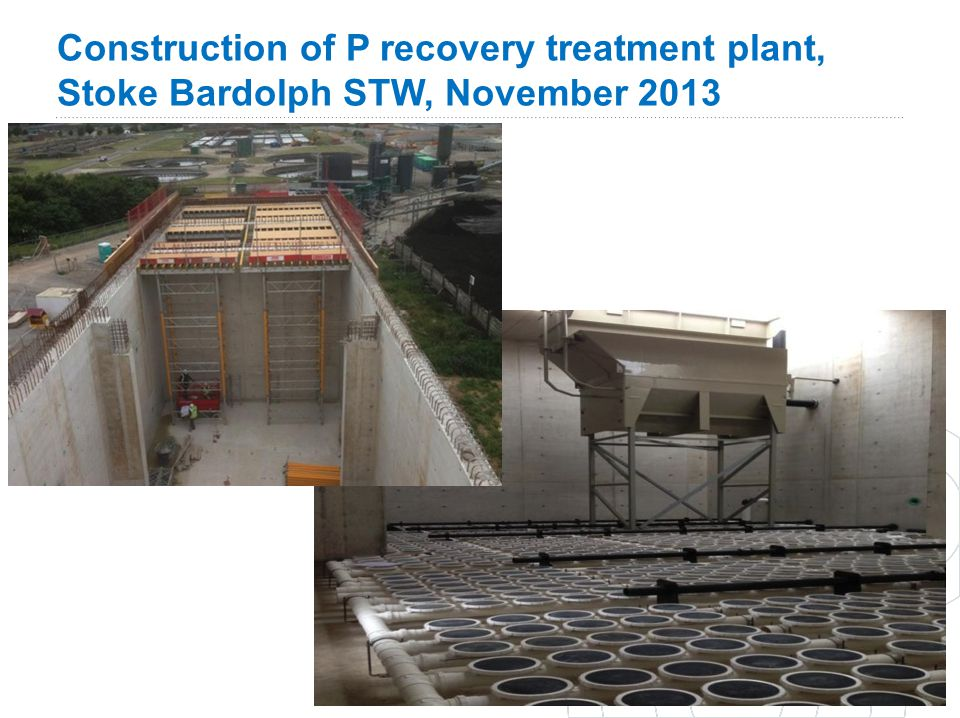 Construction of P recovery treatment plant, Stoke Bardolph STW, November 2013