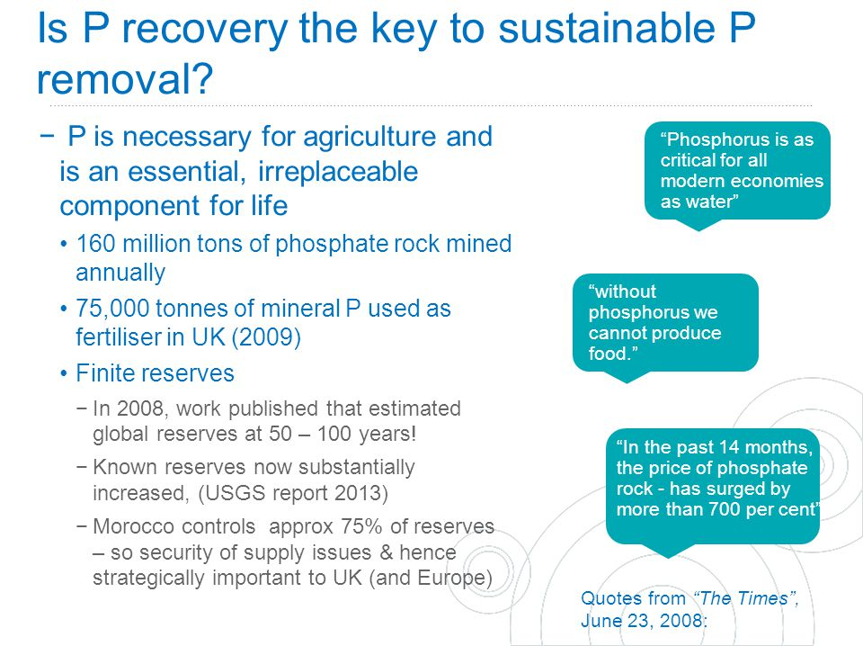 Is P recovery the key to sustainable P removal