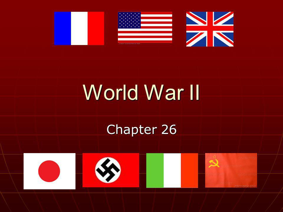 World War II Chapter 26