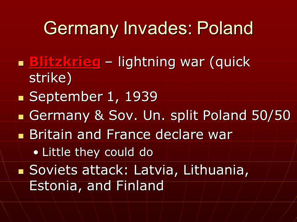 Germany Invades: Poland