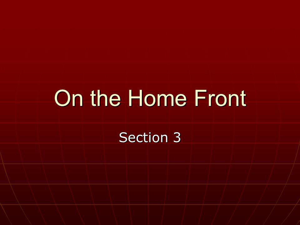 On the Home Front Section 3