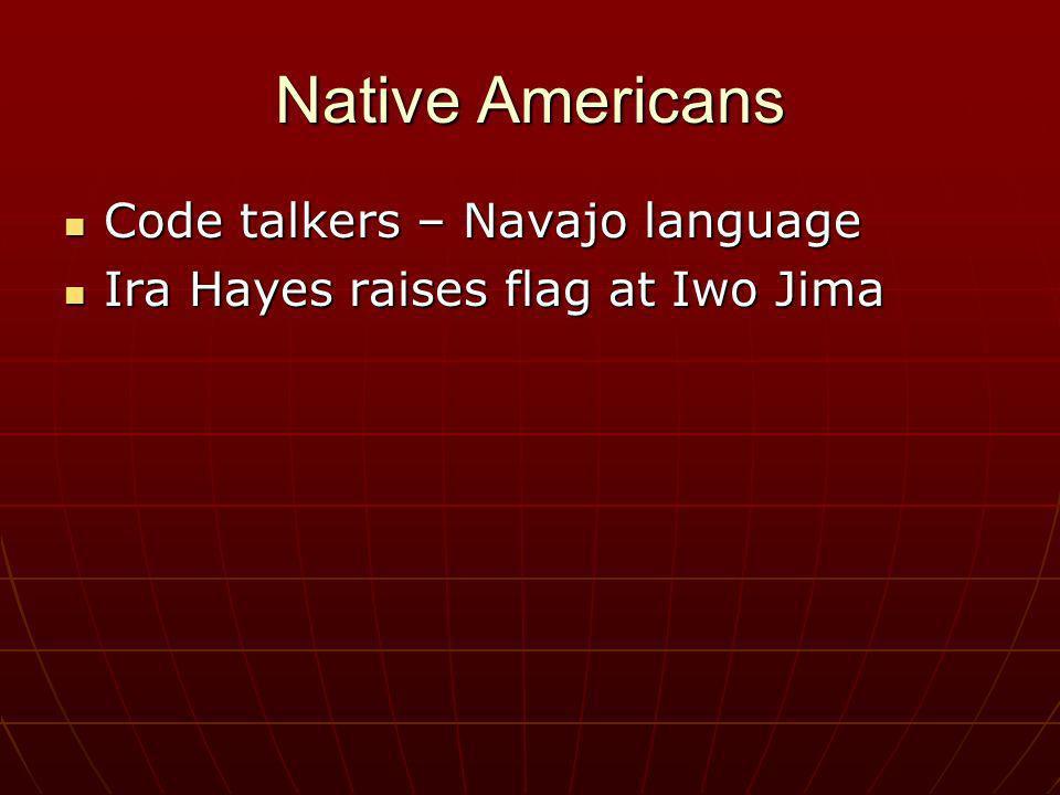 Native Americans Code talkers – Navajo language