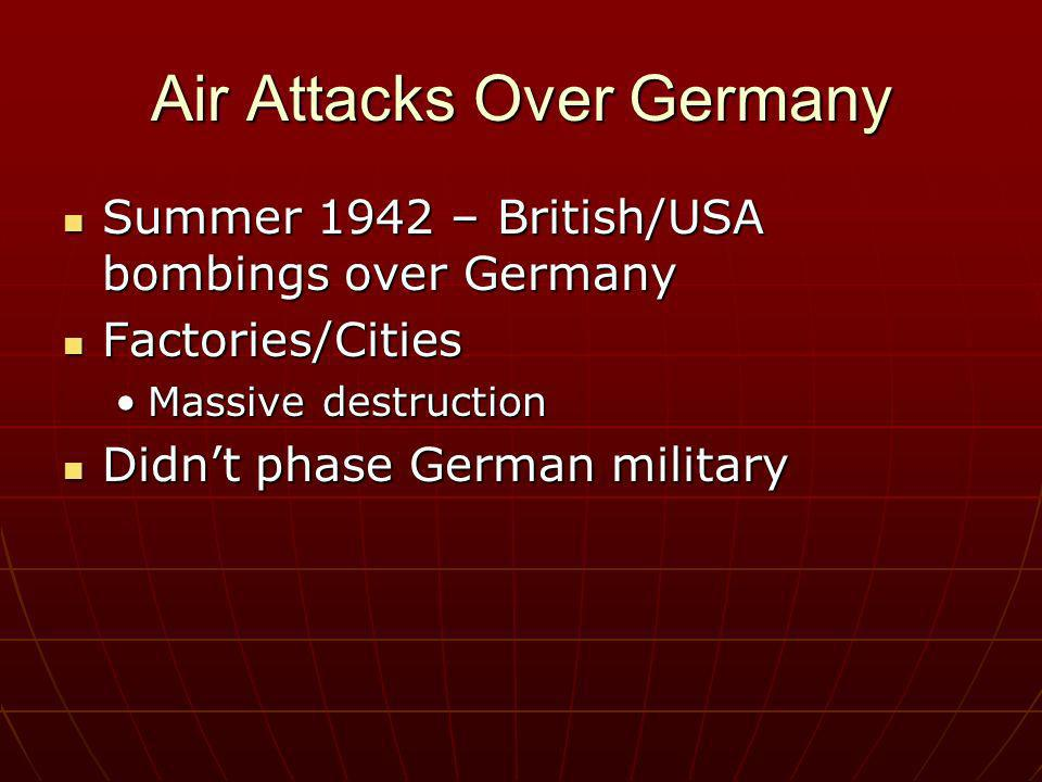 Air Attacks Over Germany
