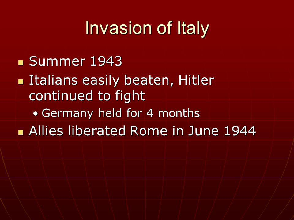 Invasion of Italy Summer 1943