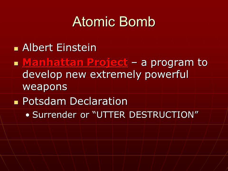 Atomic Bomb Albert Einstein