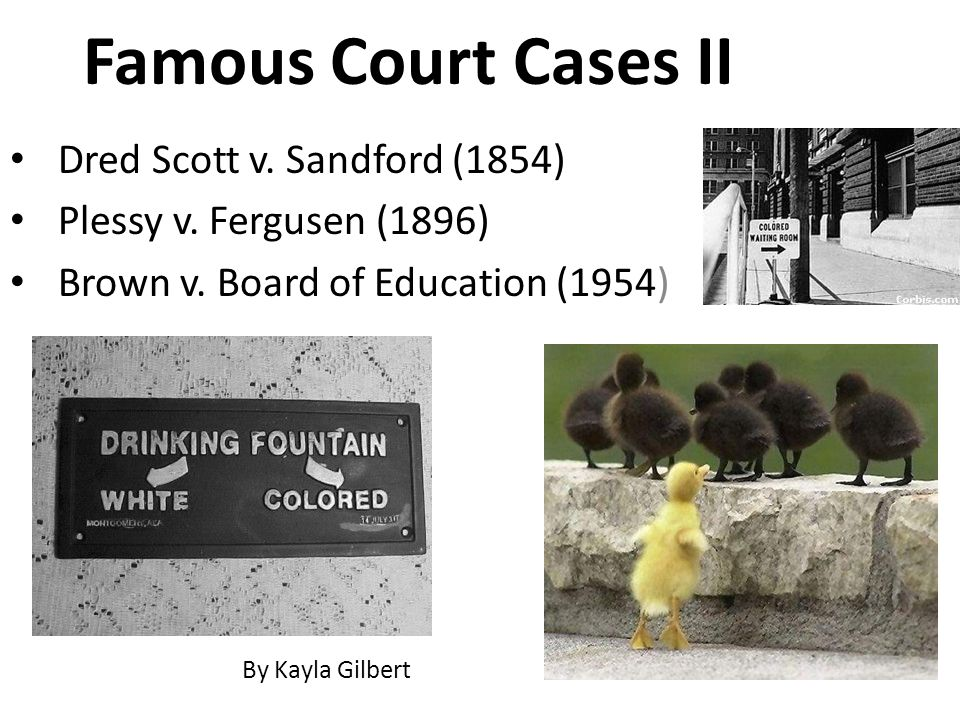 Famous Court Cases II Dred Scott v. Sandford (1854)