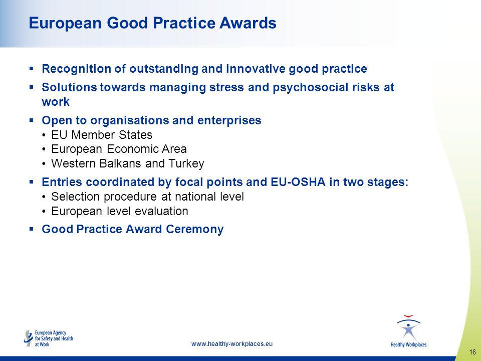 European Good Practice Awards