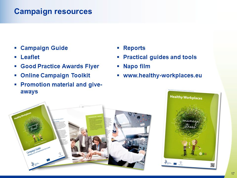 Campaign resources Campaign Guide Leaflet Good Practice Awards Flyer