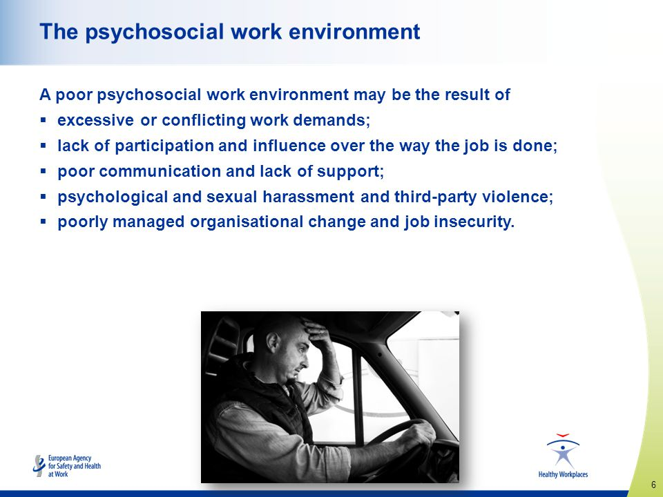 The psychosocial work environment