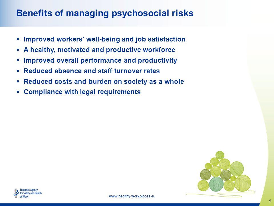Benefits of managing psychosocial risks
