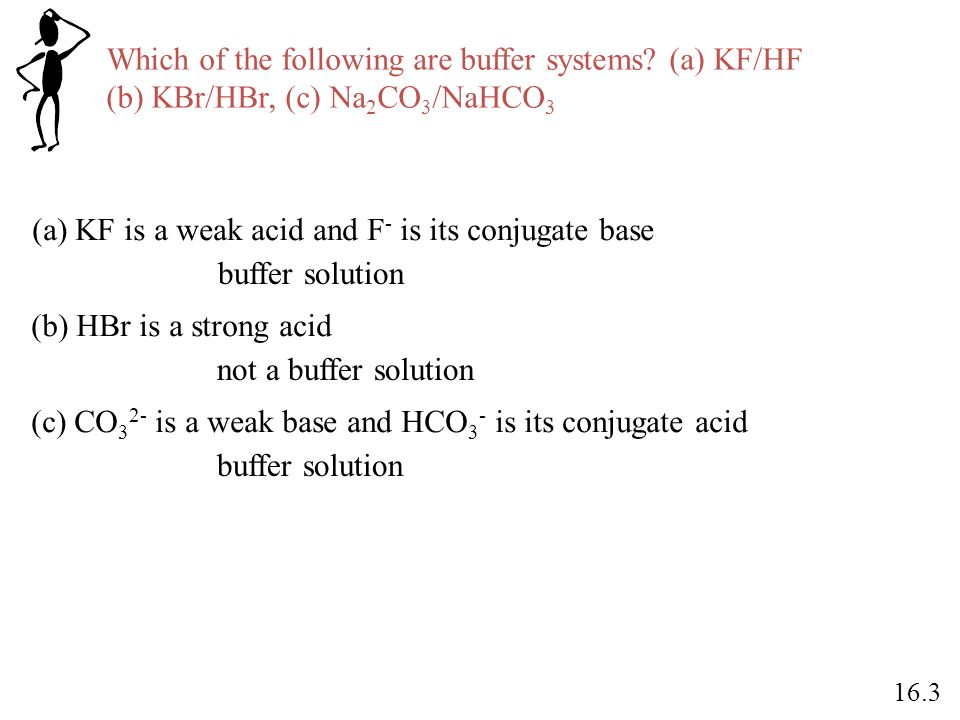 Which of the following are buffer systems (a) KF/HF
