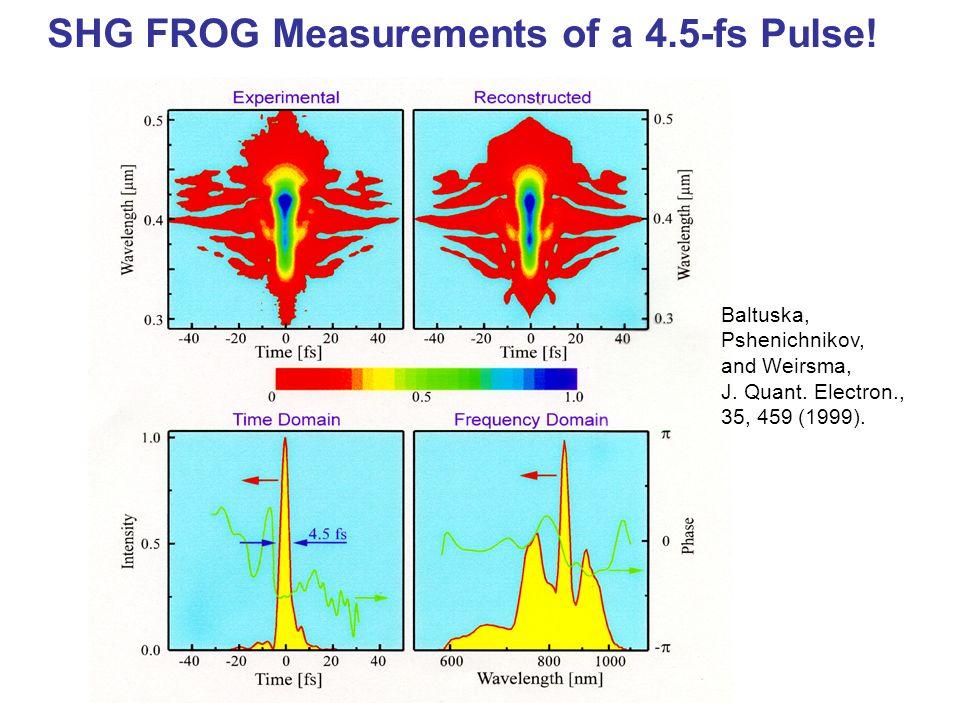 SHG FROG Measurements of a 4.5-fs Pulse!