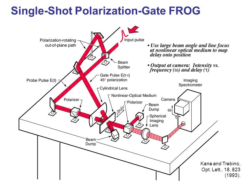 Single-Shot Polarization-Gate FROG