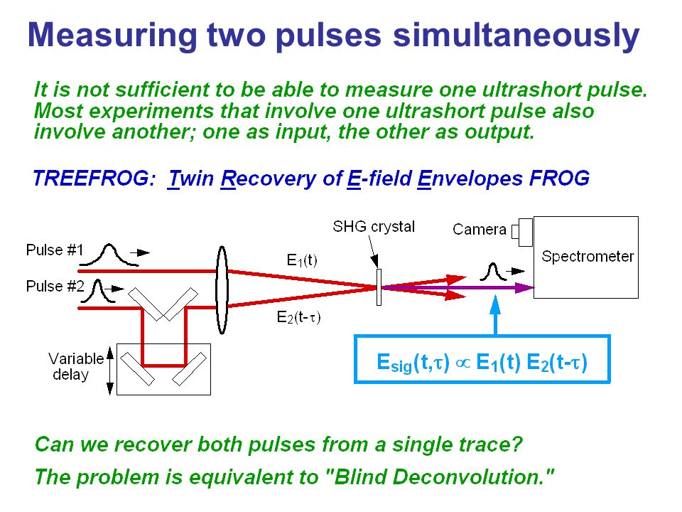 Measuring two pulses simultaneously