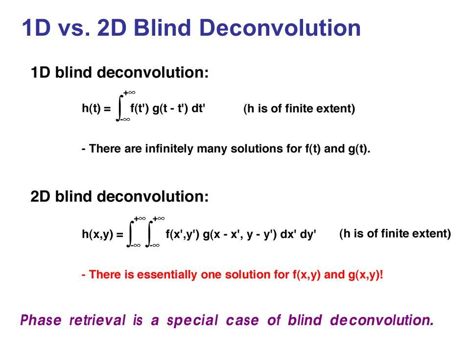 1D vs. 2D Blind Deconvolution