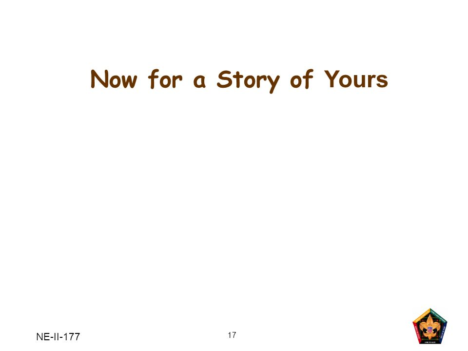 Now for a Story of Yours NE-II-177