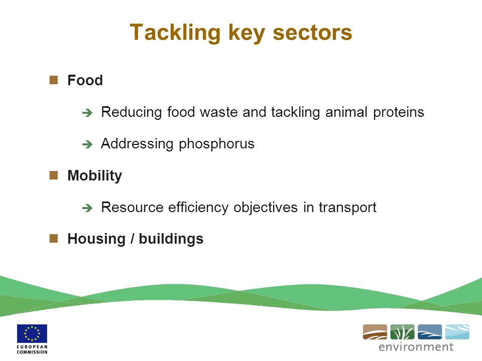 Tackling key sectors Food