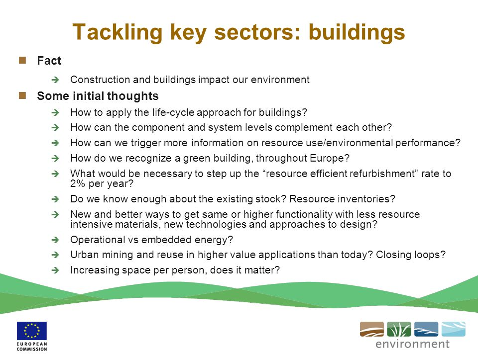 Tackling key sectors: buildings