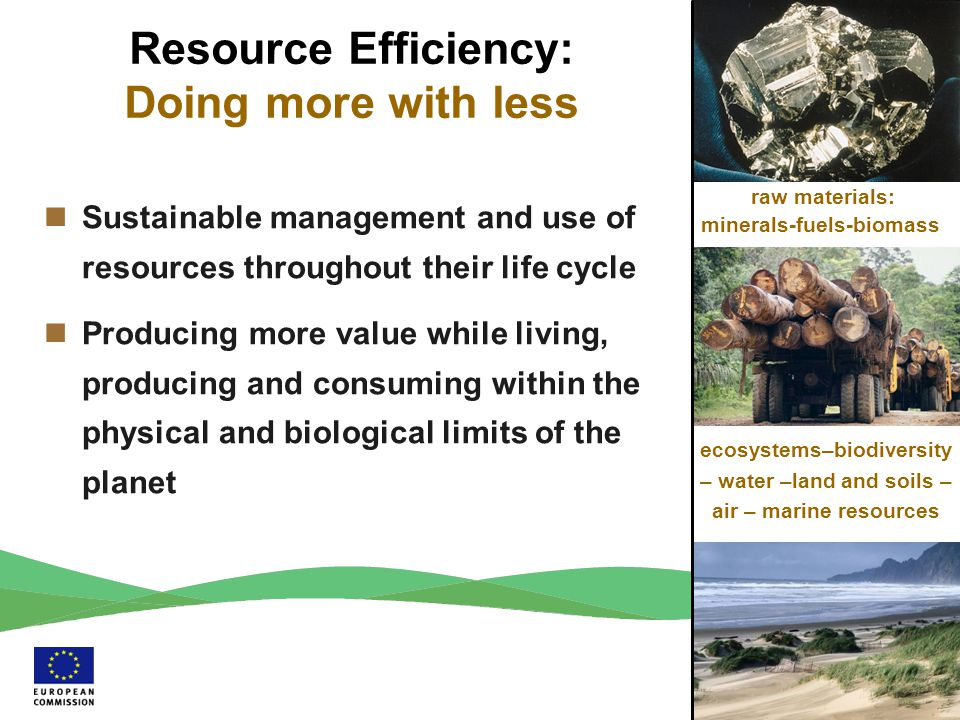 Resource Efficiency: Doing more with less