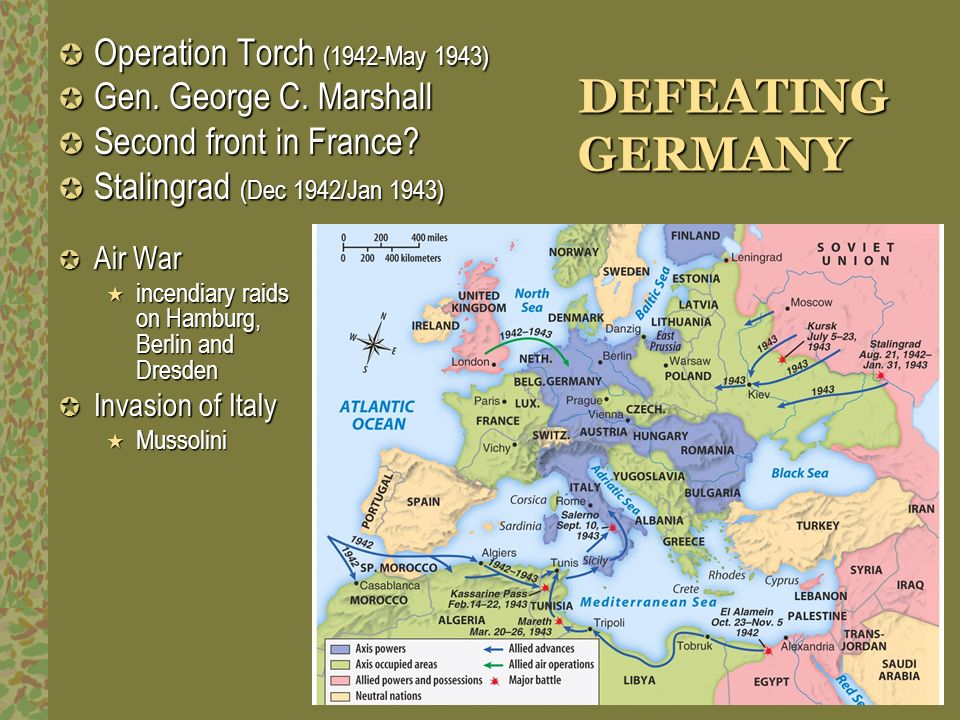 DEFEATING GERMANY Operation Torch (1942-May 1943)