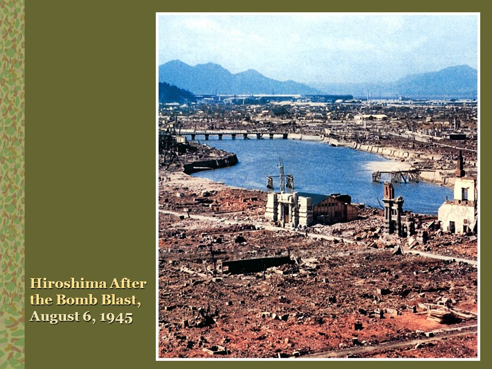 Hiroshima After the Bomb Blast, August 6, 1945