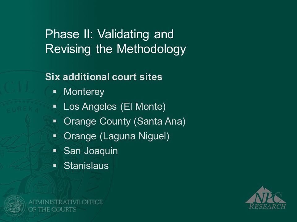 Phase II: Validating and Revising the Methodology