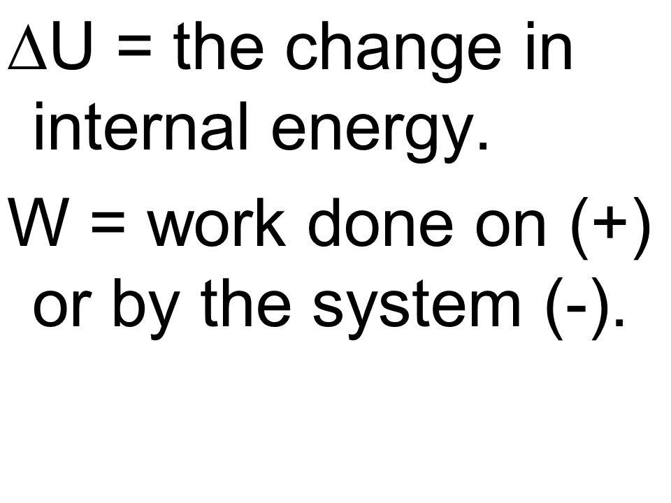 DU = the change in internal energy.