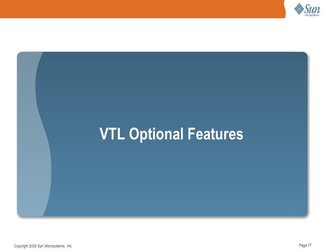 VTL Optional Features Enterprise-Level Data Protection — Divider Slide