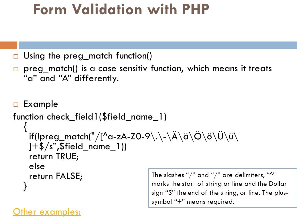 Form Validation with PHP
