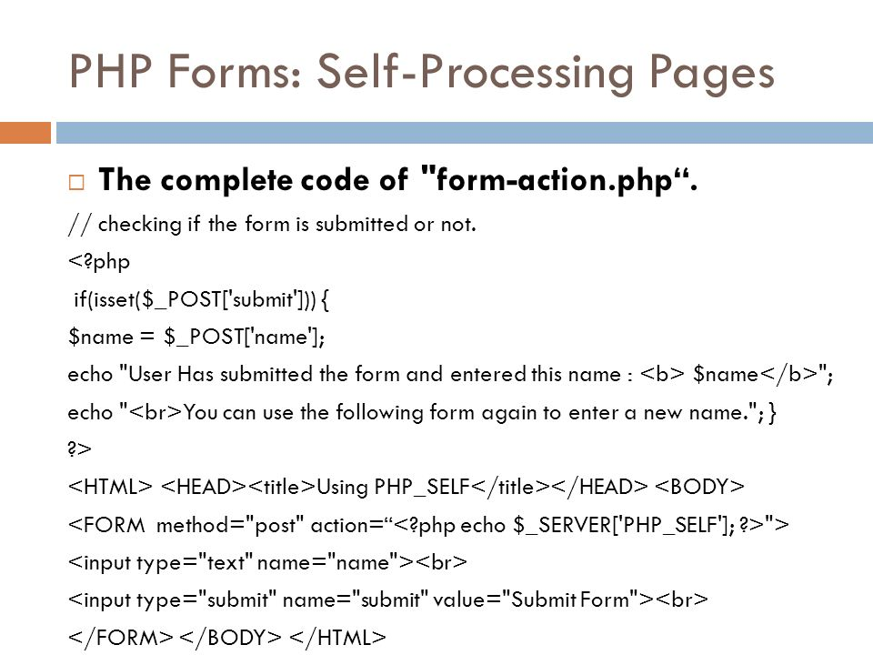 PHP Form and File Handling - ppt video online download