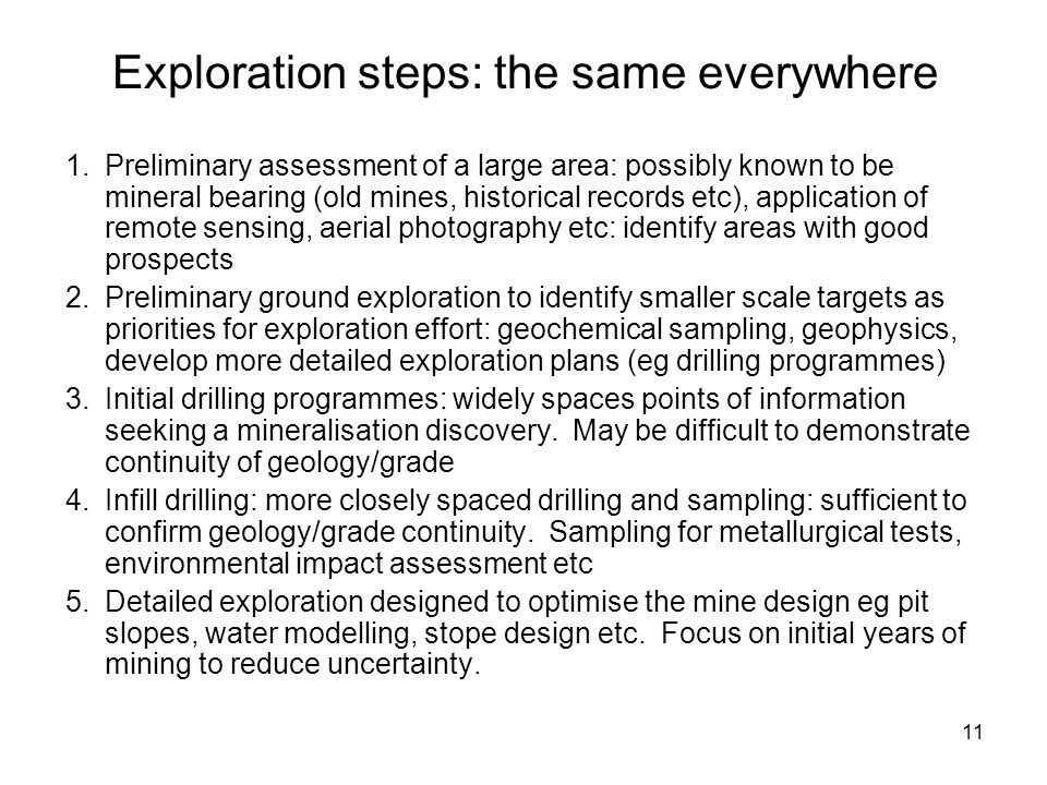 Exploration steps: the same everywhere