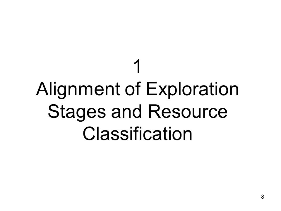 1 Alignment of Exploration Stages and Resource Classification