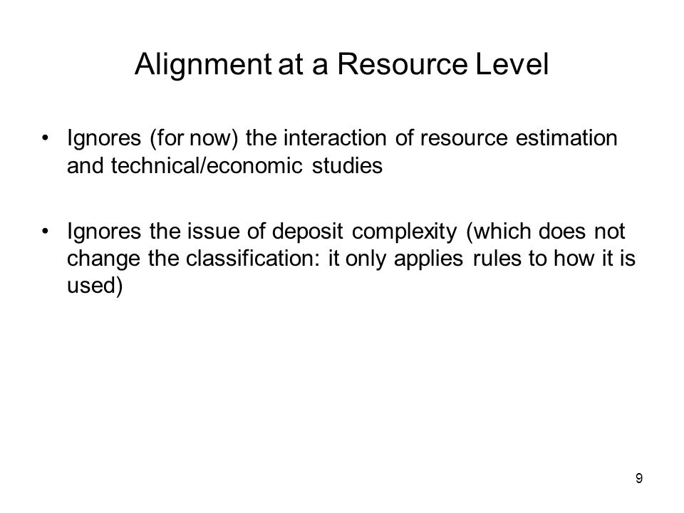 Alignment at a Resource Level