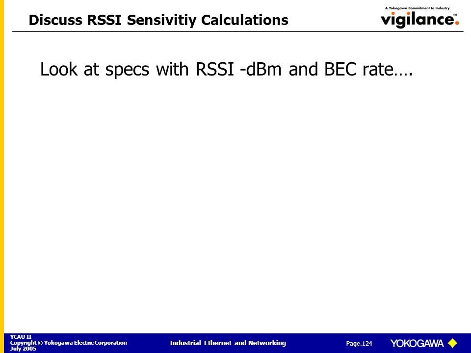 Discuss RSSI Sensivitiy Calculations