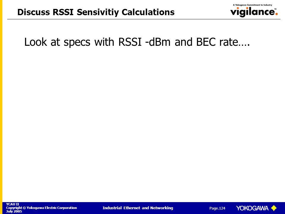 Discuss RSSI Sensivitiy Calculations
