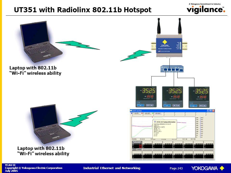 UT351 with Radiolinx 802.11b Hotspot