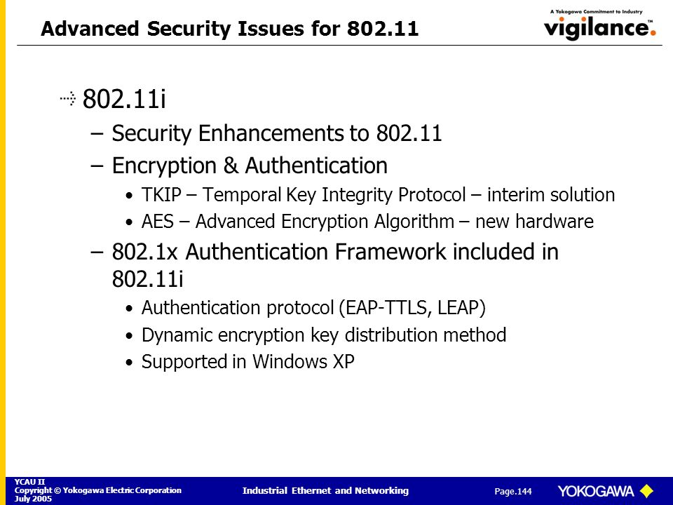 Advanced Security Issues for 802.11