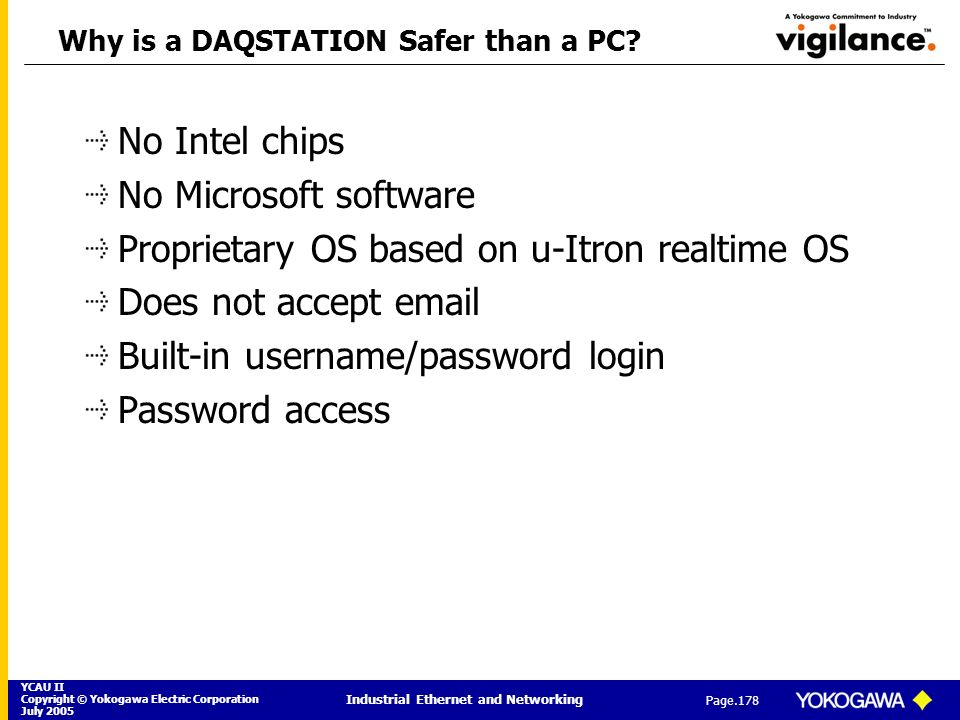 Why is a DAQSTATION Safer than a PC